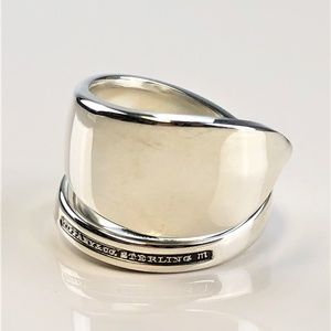Tiffany & Co sterling silver bypass spoon ring 7